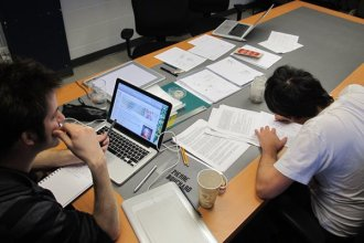 Pierre et Francis en plein travail.