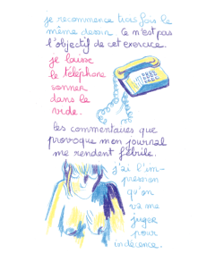 Journal, Julie Delporte, extrait 14