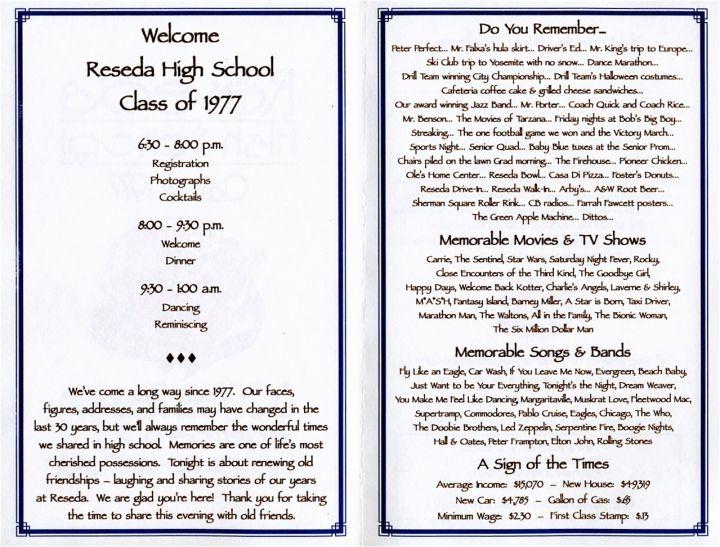 Sample family reunion banquet program family reunion souvenir booklet