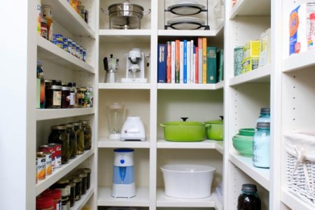 image of kitchen design with large walk in pantry | joy