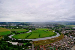 Overlooking the field where the Battle of Bannockburn turned the river red in 1314
