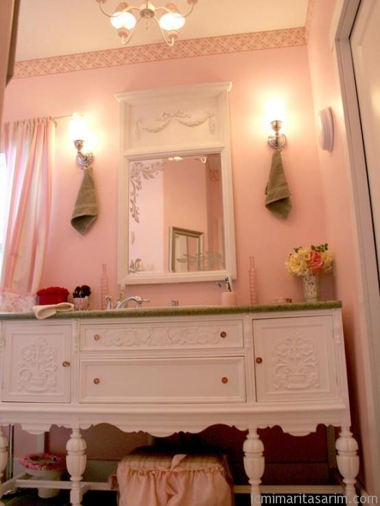 Parlak Ve Renkli Banyo Tasarım Fikirleri (19)