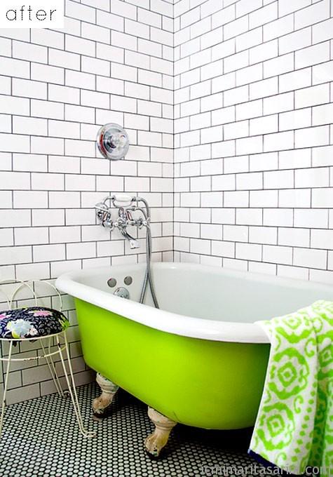 Parlak Ve Renkli Banyo Tasarım Fikirleri (20)
