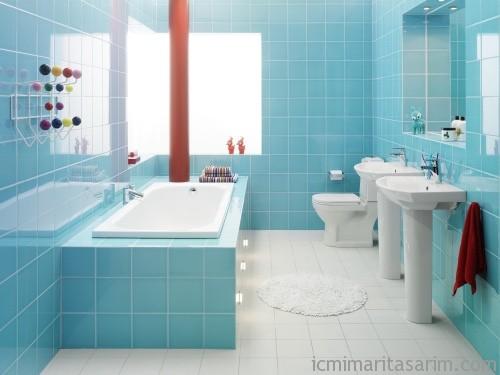 Parlak Ve Renkli Banyo Tasarım Fikirleri (31)