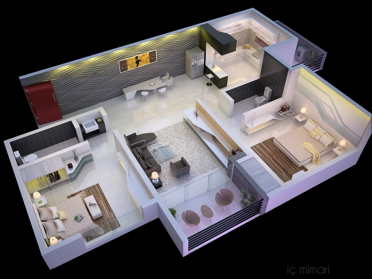 2 Bedroom ApartmentHouse Plans  Interior Design Ideas