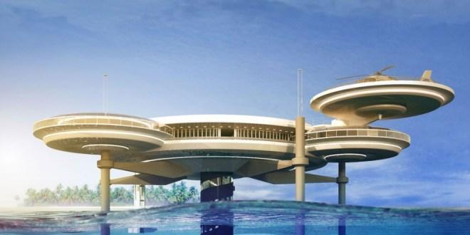 Dubai'de Disk Şekli Tasarımlı Su altı Hoteli