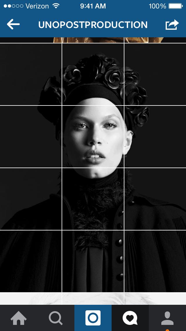 UNO Instagram Black and White
