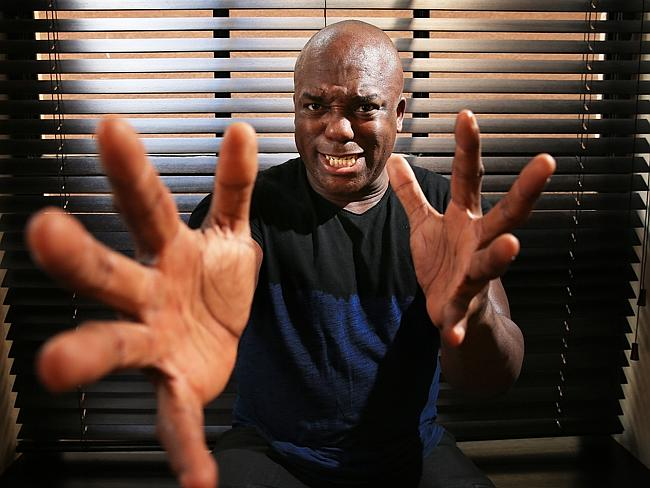 Game of Thrones actor Deobia Oparei pictured at the QT Hotel in Sydney. Picture: Toby Zer