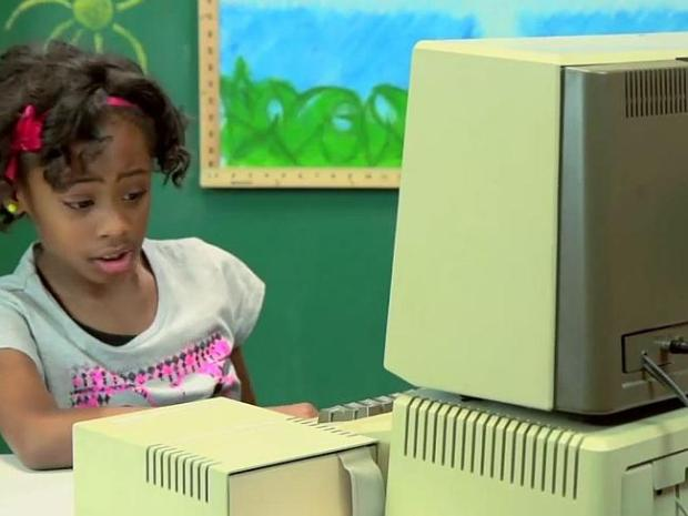 No iPad ... Brooke-Monae isn't a fan of 1970s technology. YouTube/TheFineBros