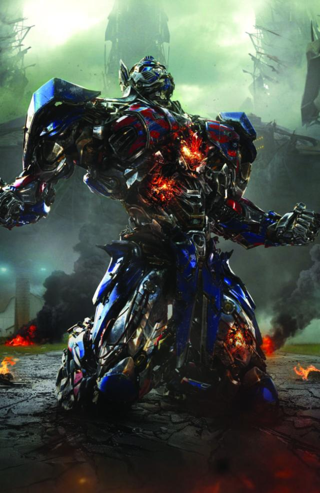 Optimus Prime in a scene from the film. Picture: Supplied