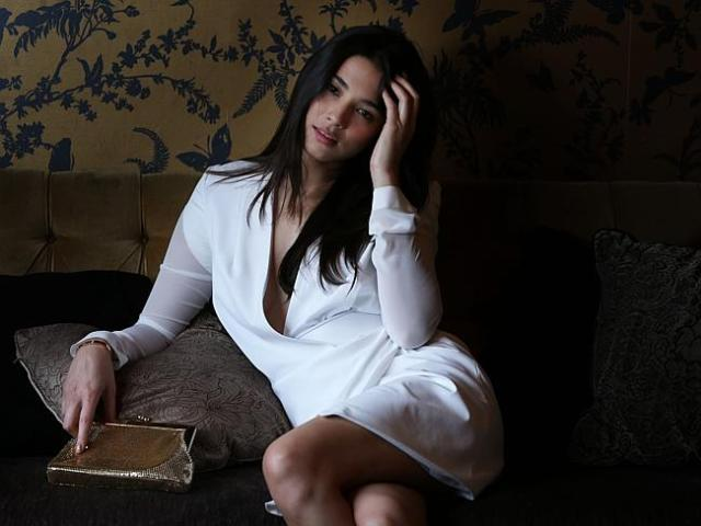 Model Jessica Gomes models iconic Australian brand 'Glomesh' which relaunched last year a