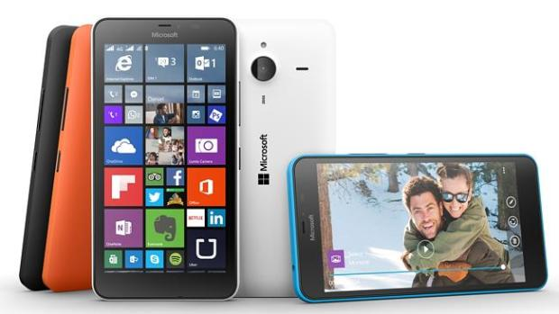 Large Lumia ... Microsoft's self-branded Lumia 640 XL matches the screen size of Samsung'