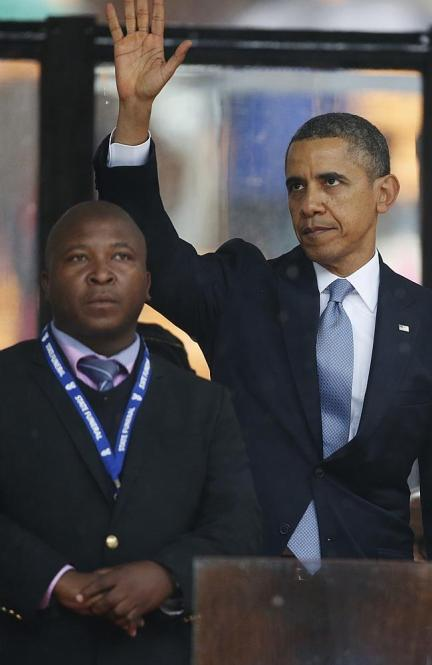 A bold performance... particularly from the interpreter, it seems. Picture: AP