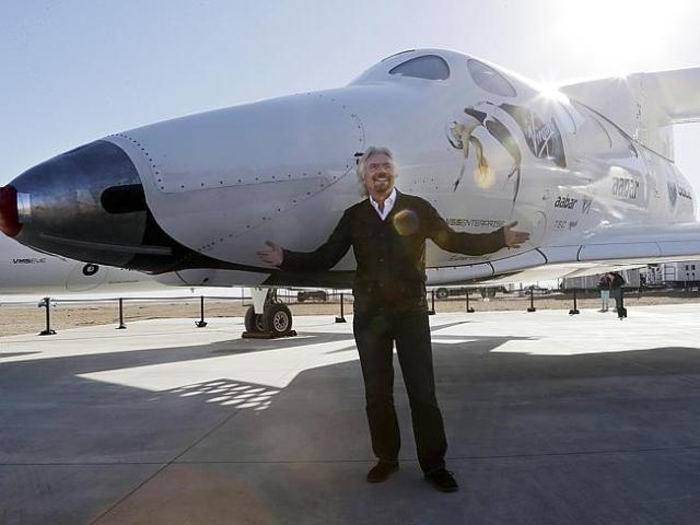Big sky dreaming ... Sir Richard Branson vowed to become an astronaut by the end of the y