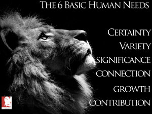 Is Your Business Meeting the 6 Basic Human Needs?