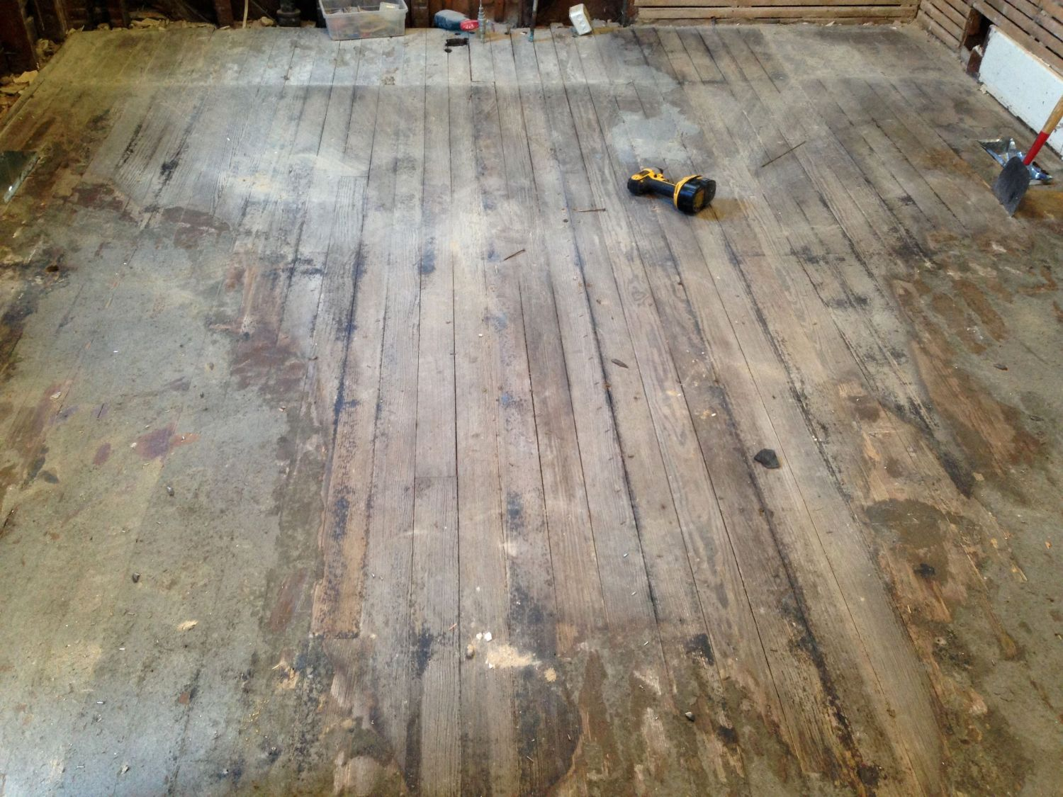 Carriage house part 3 restoring ross for Carriage house flooring