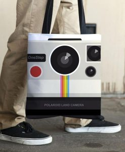 Retro camera tote bag