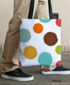 Colorful circles tote bag