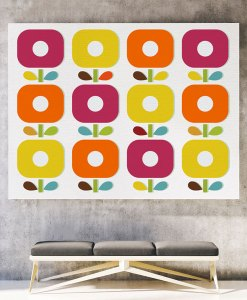 Abstract blossom canvas print horizontal