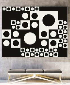 Black and white abstract giclee print horizontal