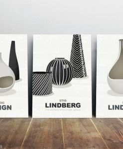 Stig Lindberg ceramics print set