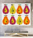 Pear canvas print horizontal