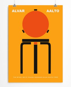 Stool 60 by Aalto Yellow