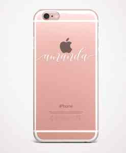 custom name phone case pink
