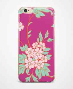 Pink flowers phone case front