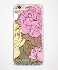 peonies phone case transparent