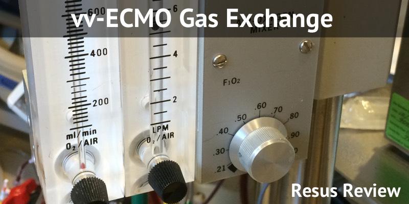 VV ECMO Gas Exchange
