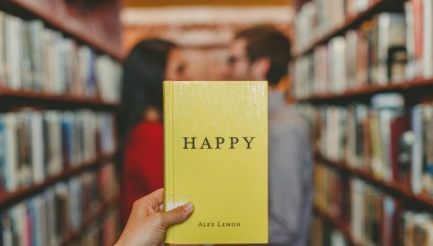 yellow happy book
