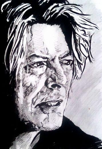David Bowie, Autor: Jose Manuel Gallego Garcia, Todos los Derechos Reservados, visita: retratarte.org