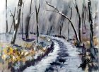 Paisaje Invernal, acuarela 23x17,5, autor: Jose Manuel Gallego Garcia, Visita: retratarte.org