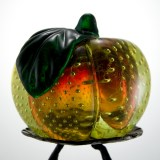 Large and beautiful vintage Venetian glass peach blown in sommerso.