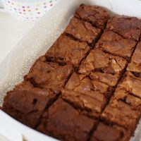 best ever chocolate brownies - for a small family or a big crowd