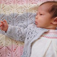 lace cardigan from lullaby knits