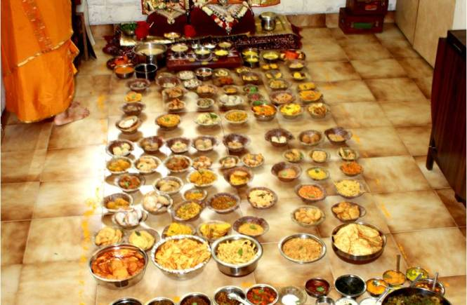 Food offered to God first before eating
