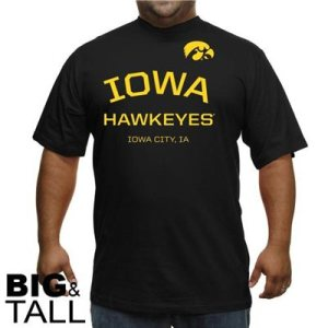 big and tall, Iowa hawkeyes t-shirt, plus size