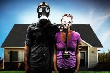 Dos personas en el afiche promocional de Preppers, la serie de Nat Geo. Fotografía: National Geographic Channel