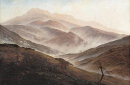 Reprodução/Caspar David Friedrich - Paisagem de Riesengebirge Landscape sob a névoa, (1819-20)