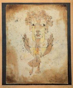 "A pintura ""Angelus novos"", de Paul Klee"