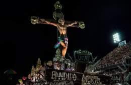 O Jesus negro e favelado da Mangueira este ano - Foto Ana Carolina Fernandes