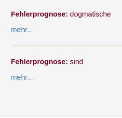 Figures 5 & 6: Error prognosis step 1; Error prognosis step 2.