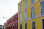 FCM Edificios amarelo e bordo Vista Sul