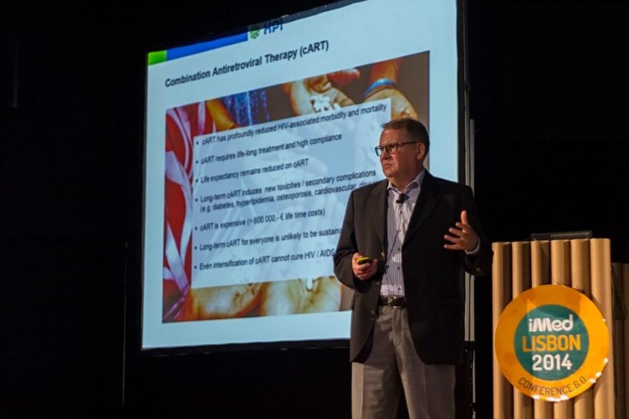Joachim Hauber, criador da inovadora enzima Tre recombinase, capaz de remover DNA inserido pelo VIH em células infectadas.