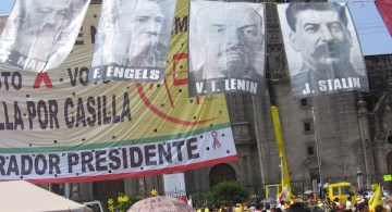 Marx-Engels-Lenin-Stalin-fly-at-rally