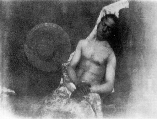 Autorretrato de un hombre ahogado. Hippolyte Bayard, 1840