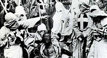 Escena de El nacimiento de una nación, de D.H. Griffith, 1915.
