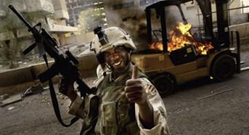 Una escena de la guerra en Iraq.